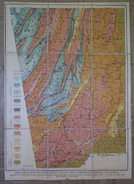 Map Antique Geological Map of Appalachian Valley and ...