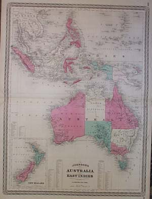maps antique country new zealand