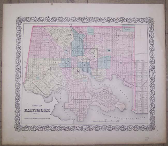 Maps Antique United States US States Maryland