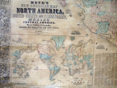 Map Antique Monk's New American Map Exhibiting the Larger ... on us map cincinnati, us map louisiana, us map treaty of paris, us map michigan, us map nevada, us map oregon, us map albuquerque, us map california, us map oklahoma, us map montana, us map wisconsin, us map transcontinental railroad, us map buffalo, us map wyoming, us map mississippi, us map mexico, us map united states, us map lewis and clark expedition, us map alabama, us map erie canal,