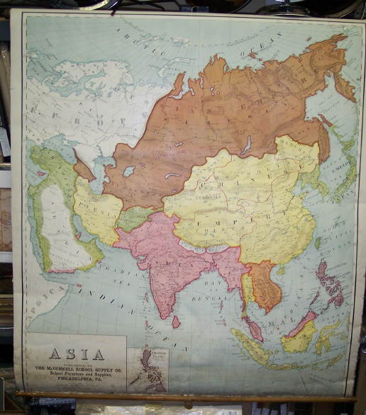 Map Of Asia 1930.Maps Antique Country South Korea