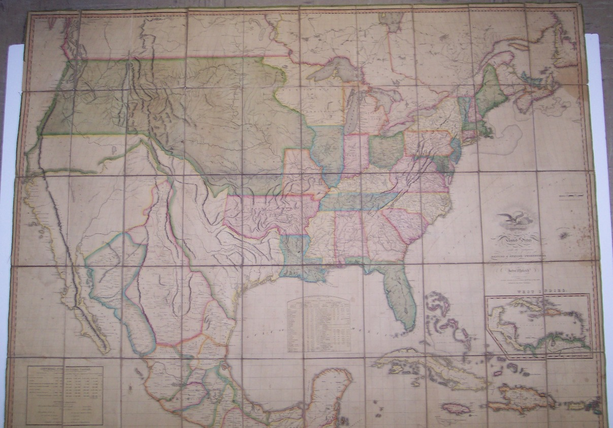 Maps Antique Rare Or More - John wallis map of the us
