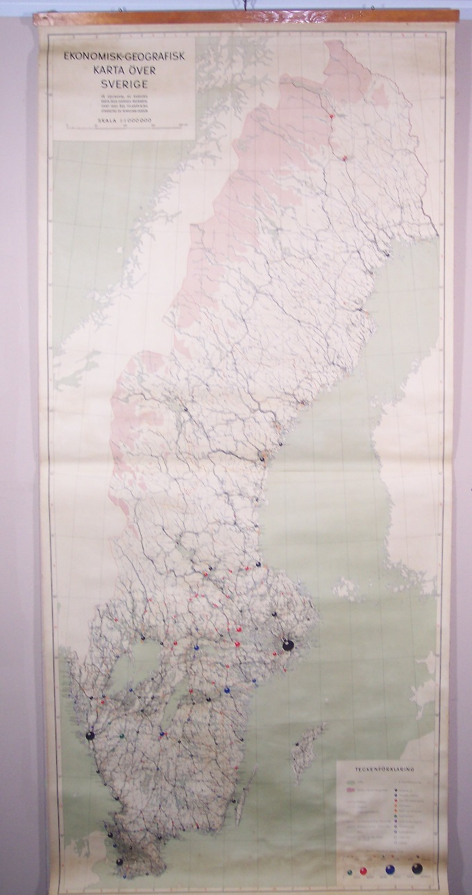 Maps Antique Country Sweden