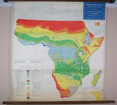Carte De Lafrique Map.Map Antique Vegetation Map Of Africa South Of The Tropic Of