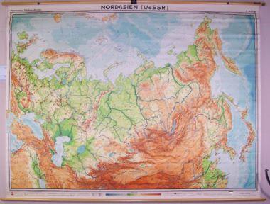 Map Antique Nordasien UdSSR Northern Asia USSR