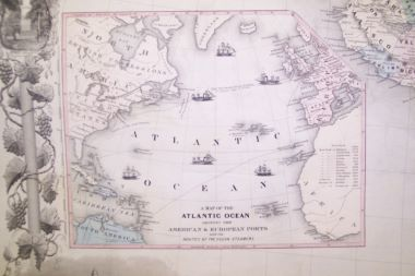 Map Antique Map of the United States of America the British ...