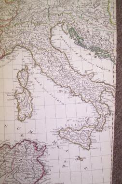 Map Antique Orbis Romani Pars Occidentalis - Pars map
