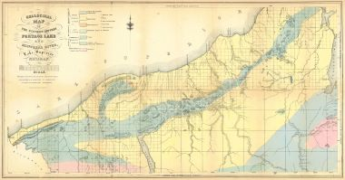 Portage Lake Michigan Map.Map Antique Geological Map Of The District Between Portage Lake And