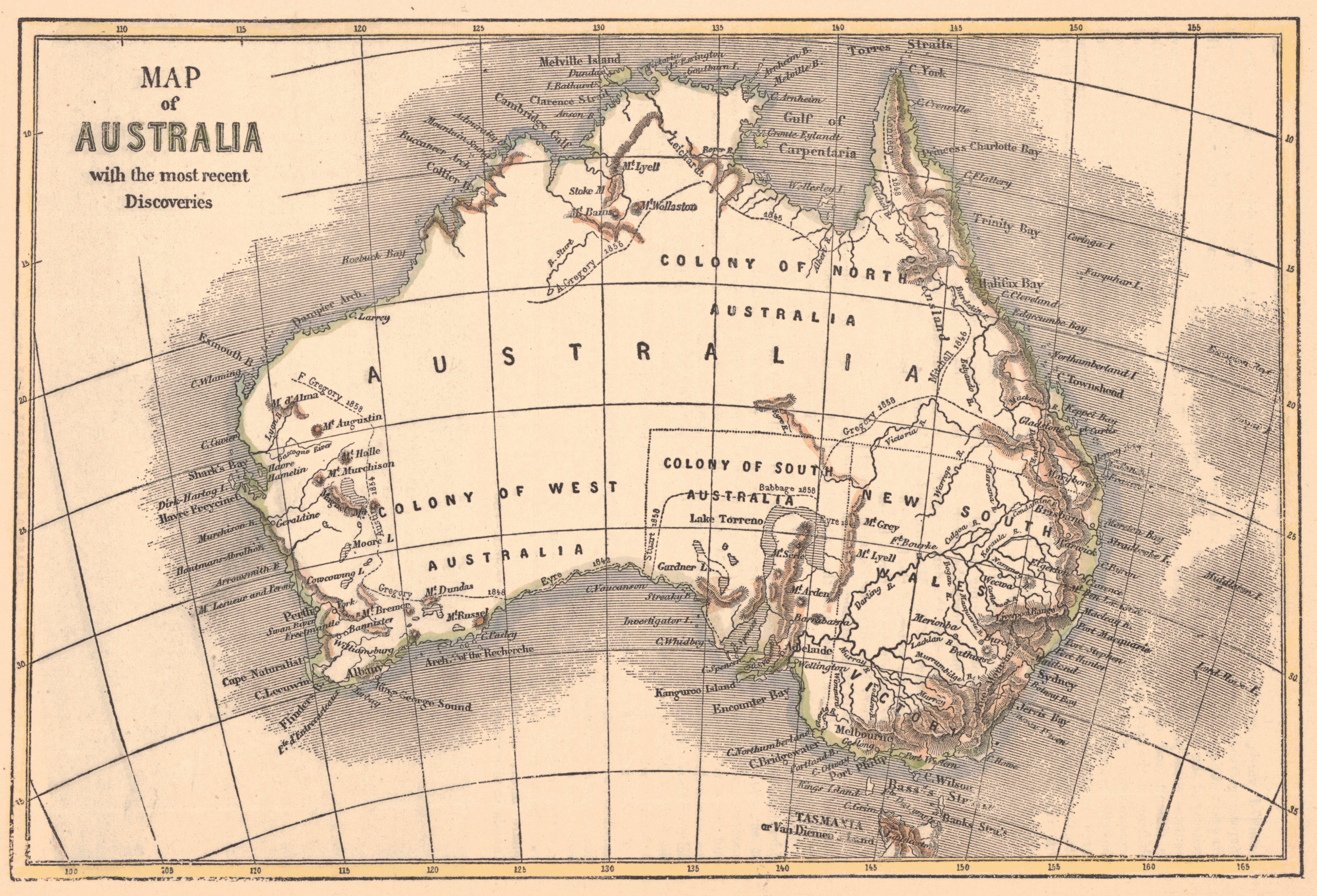 Maps Antique Continent Australia - Antique maps for sale australia