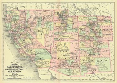 Map Antique Map of Arizona California Colorado Nevada New ... on map of interstate 8 arizona, map of arizona cities, map of calif and nev, nevada road map arizona, boundary map of glendale arizona, map from california to utah, map oregon and arizona, map of arizona to print, road map of arizona, map of yuma arizona neighborhoods, map of arizona three points, map of arizona lakes, orange and black striped snake in arizona, map of ghost towns in arizona, map of palm desert and surrounding areas, map of southern arizona, map of interstate 10 in arizona, california road map arizona, map california-nevada arizona, map of us 550 in colorado,