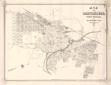 Map Antique Map Of Martinsburg West Virginia