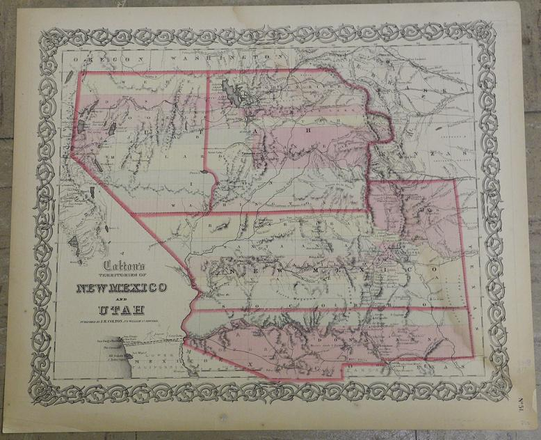 Map Of Arizona Utah And Colorado.Maps Antique United States Us States Arizona