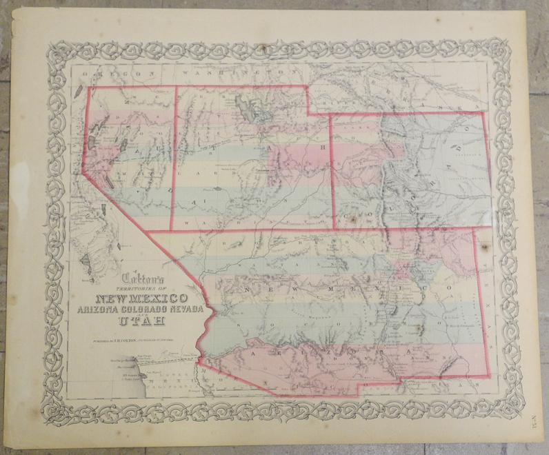 Maps Antique United States US States Nevada
