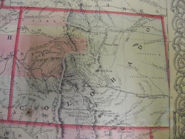 Map Antique Colton\'s Territories of New Mexico Arizona Colorado ...