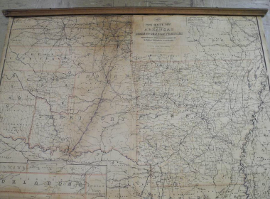 Map Of Texas Oklahoma And Louisiana.Map Antique Post Route Map Of The State Of Arkansas And Of Indian
