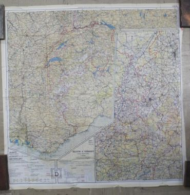Map Of France Holland And Germany.Map Antique Double Sided Silk Escape Map 43d And 43c Holland