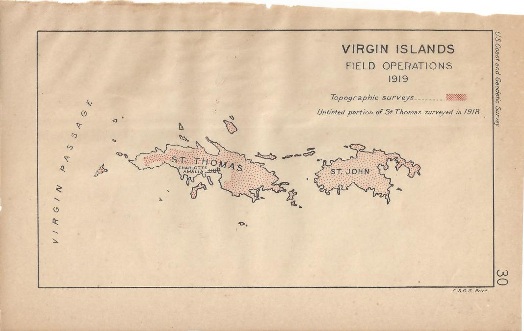 maps antique country united states virgin islands