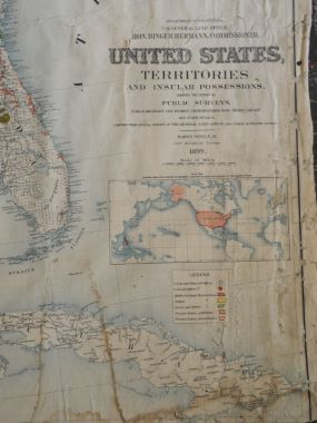 Map Antique .United States Territories and Insular Possessions