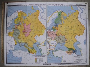 Map Antique Webster Knowlton Hazen European History Maps Expansion