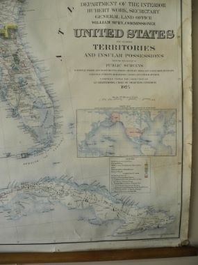 Map Antique United States including territories and insular possessions