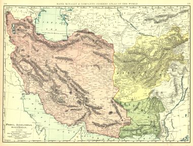 Map Antique Persia Afghanistan And Beluchistan Rand Mcnally Co S