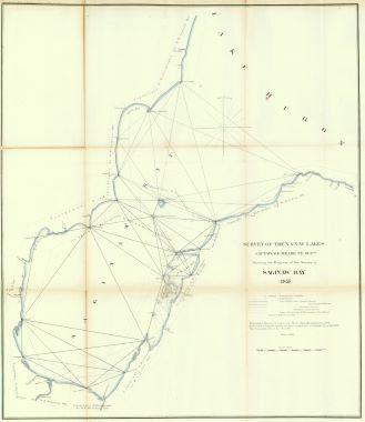 Map Antique Survey of the N N.W. Lakes Captain G.G. Meade ... on frisco bay map, missouri bay map, saginaw michigan, toledo bay map, dover bay map, farmington bay map, saginaw county, south bay map, buffalo bay map, mesquite bay map, saginaw police, bay county map, chicago map, bay bay map, isabella bay map, bay city map, standish mi map, columbia bay map, saco bay map, saginaw river,