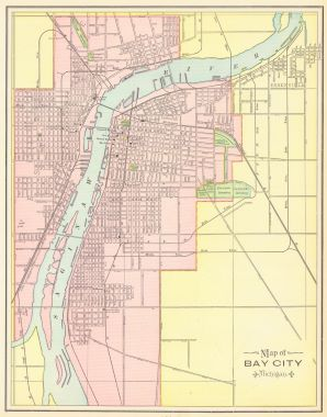 Map Antique Map Of The City Of Saginaw Michigan