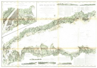 Map Antique Eastern Part of Long Island Sound | Middle Part of Long on map of eastern rhode island, map of boston sound, map of washington sound, map of rhode island sound,