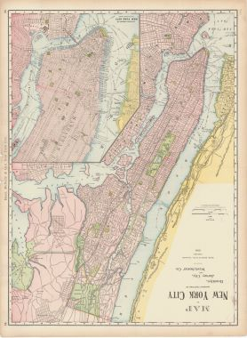 Map Antique Rand Mcnally Co S New Business Atlas Map Of New York