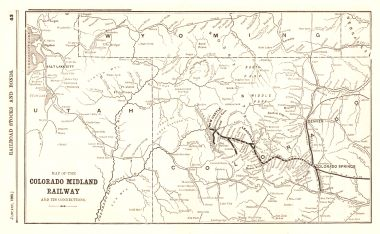 Map Antique Map of the Colorado Midland Railway And Its Connections