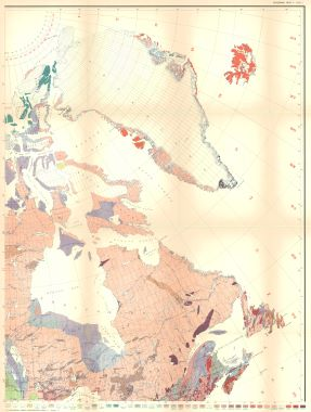 Map Antique Geologic Map Of North America