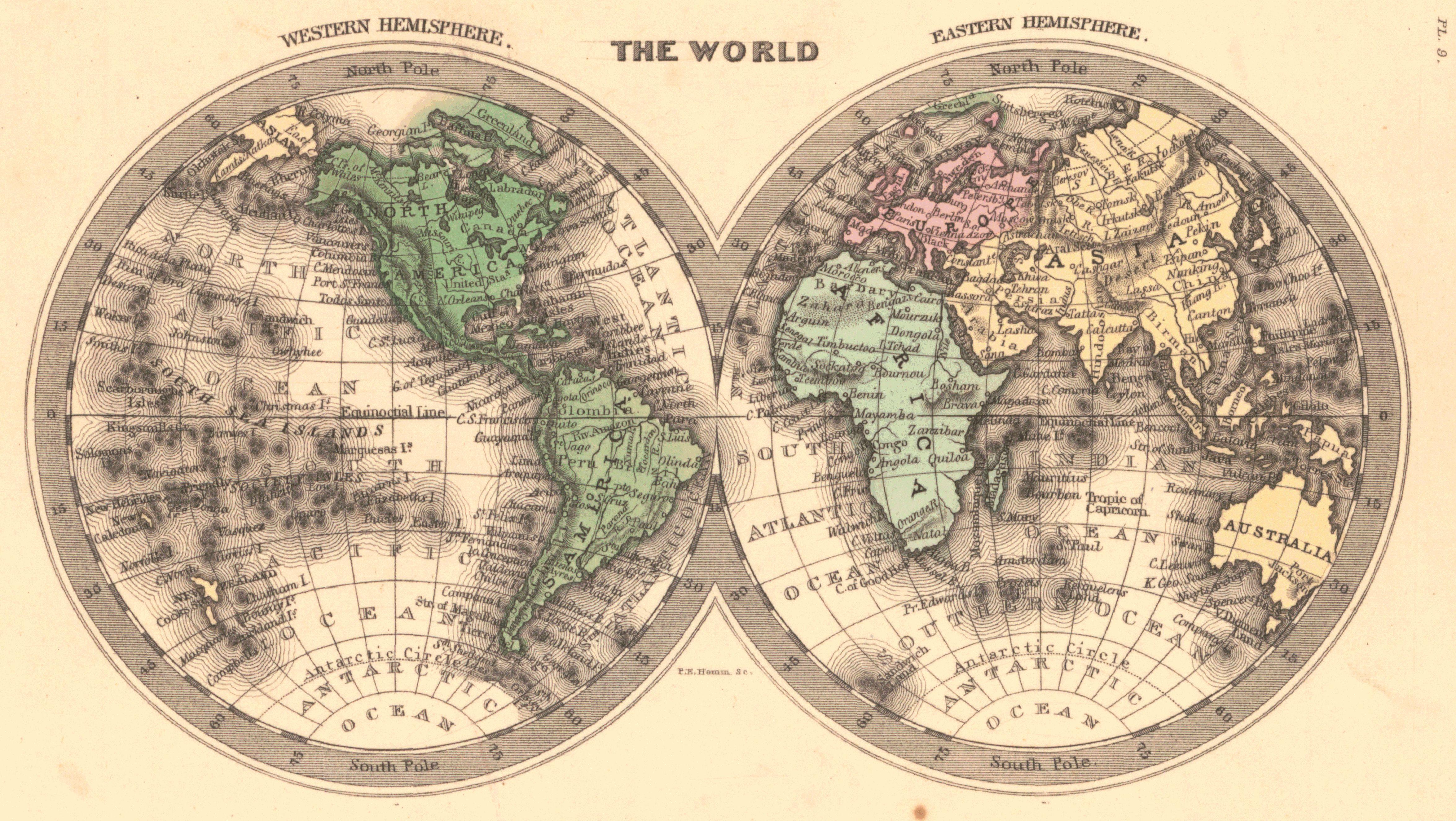Maps antique hemisphere western hemisphere gumiabroncs Choice Image